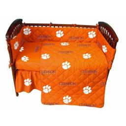 Clemson Tigers Baby Crib Fitted Sheet Pair, White
