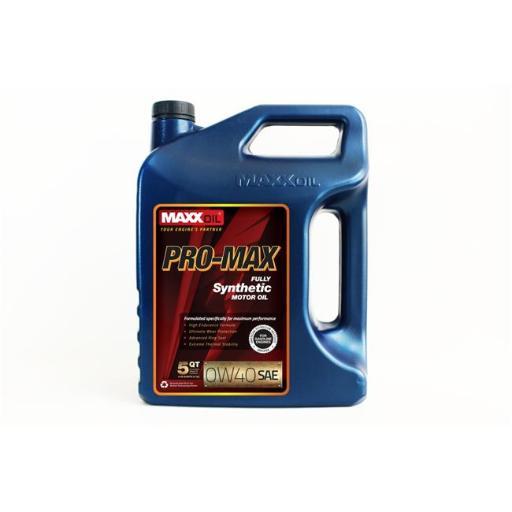 Maxx Oil PM-0W40-5Q Pro Max 0W40 Fully Synthetic Motor Oil - 5 qt