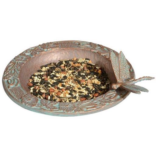 Whitehall Products 30059 Dragonfly Garden Bird Feeder - Copper Verdi P8ACJIBT9HXROS85