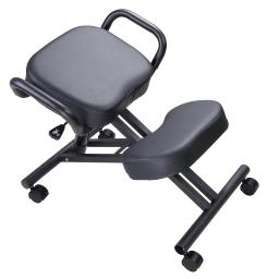 Yescom Ergonomic Kneeling Chair Adjustable Stool with Thick Seat Knee Rest Handle Casters Home Office
