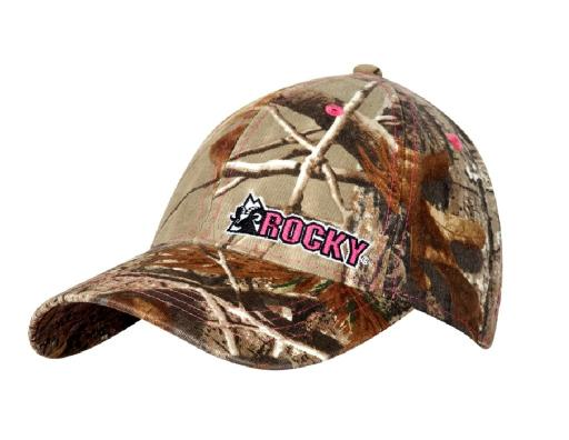 Rocky Western Hat Womens Camouflage Cap Pink Logo OX Brown LW00054 9D9AC76710F852C3