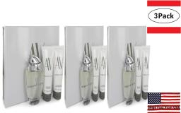 3 Pack AV by Adrienne Vittadini Gift Set -- 3 oz Eau De Parfum Spray + 3.3 Body Lotion + 3.3 oz Shower Gel for Women