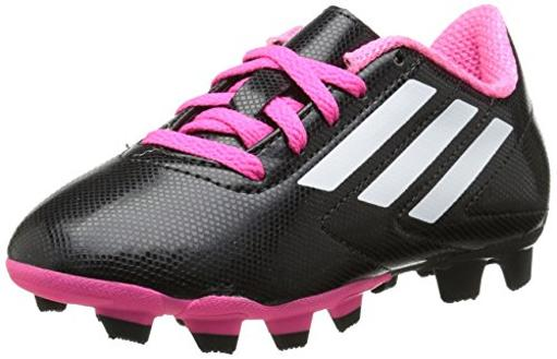4fffd57044 adidas Performance Conquisto Firm-Ground J Soccer Cleat ,Black/White/Solar  Pink,4.5 M US Big Kid