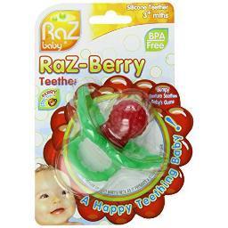 Baby 009-rt razbaby raz-berry teether 100%