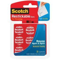 """Scotch Restickable Dots .875"""" 18/Pkg"""