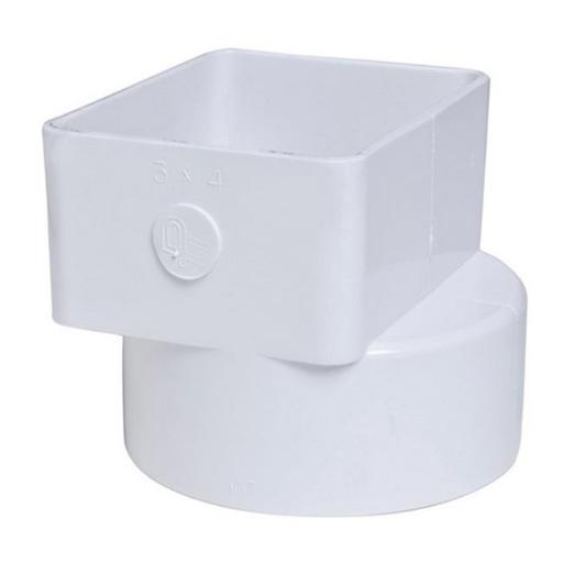 Plastic Trends P1926 3 x 4 x 4 in. Flush Downspout Adapter