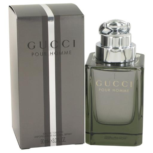 3 Pack Gucci (New) by Gucci Eau De Toilette Spray 3 oz for Men Gucci by Gucci for men is a modern and masculine woody chypre created especially for men. It is an excellent option for men who enjoy the outdoors or for those who simply enjoy smelling like they have taken a refreshing walk through nature. Gucci's men's fragrance was designed to work as a perfect complimentary companion to Gucci by Gucci perfume for women.