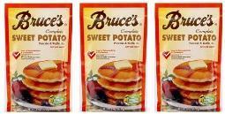 Bruce's Sweet Potato Pancake and Waffle Mix 3 Bag Pack