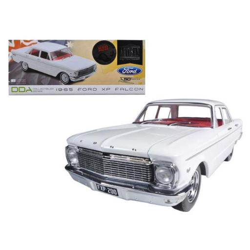 Greenlight DDA003-B 1965 Ford XP Falcon White 50th Anniversary Limited to 250 Piece with Certificate of Authenticity & Mag Wheels 1-18 Diecast Car Mod