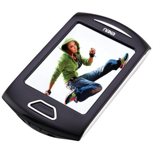 Naxa Nmv179Sl 8Gb 2.8 Touchscreen Portable Media Players (Silver)