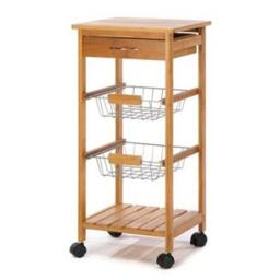 Home Locomotion 10014710 Osaka Rolling Kitchen Cart