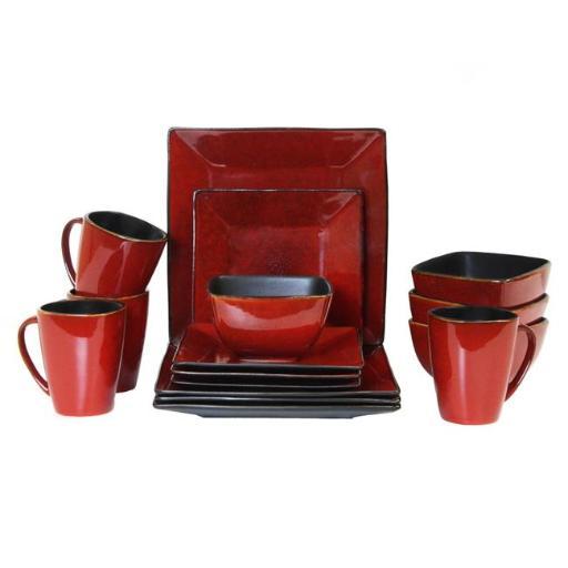 Elama ELM-HARLAND16 16 Piece Modern Premium Stoneware set