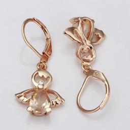 Citrine Angel Drop Earring in 18K Rose Gold Plated