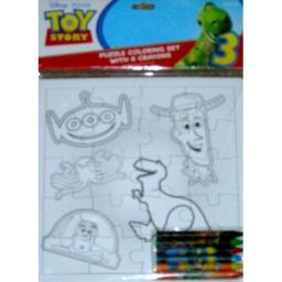 Disney Toy Story Puzzle Coloring Set with 6 Crayons