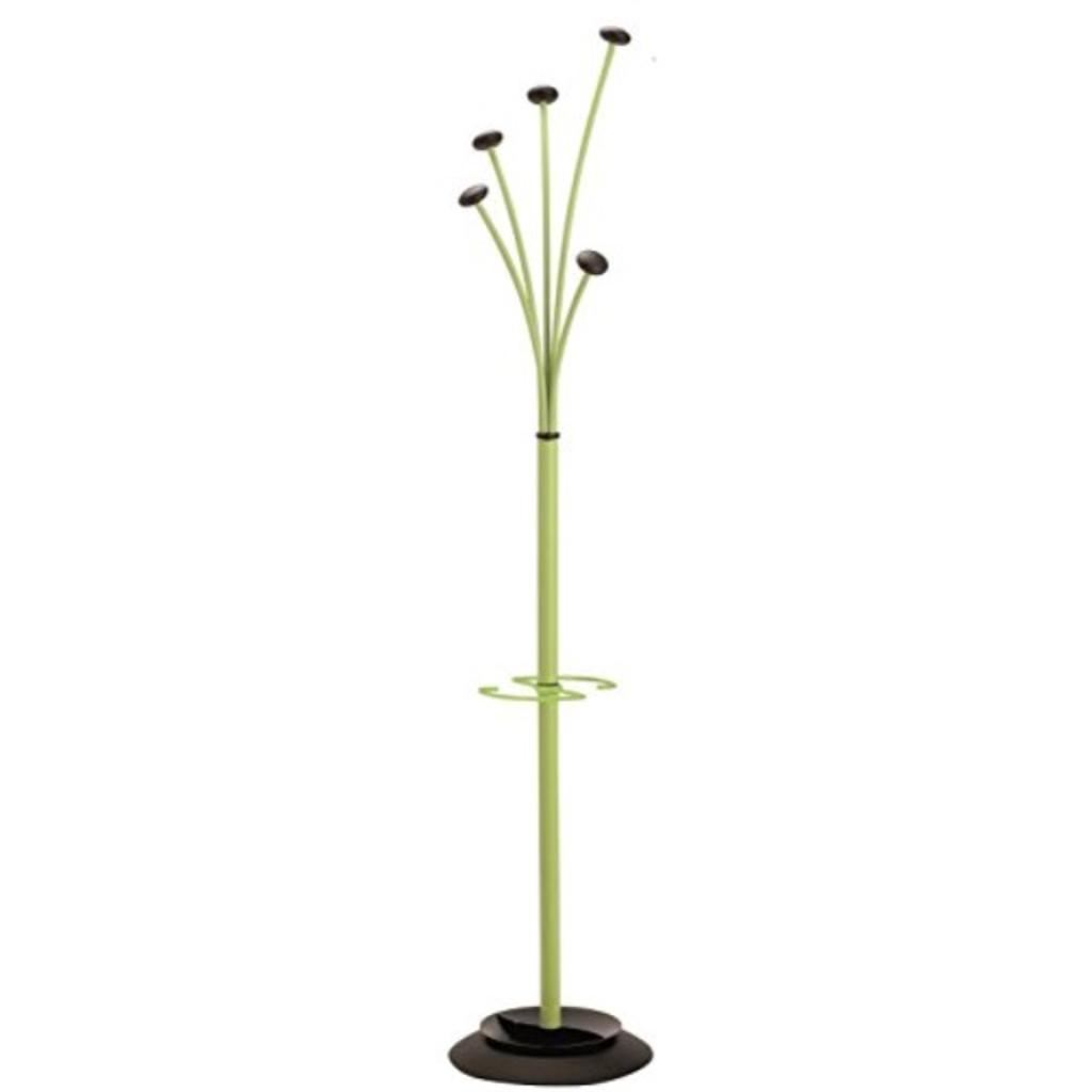 Alba Festival Floor Coat Stand with 5 Rounded Coat Pegs, Green