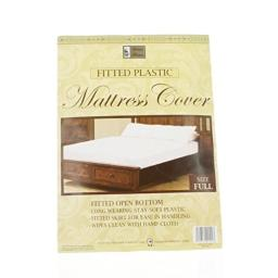 Better Home Set of 2 Full Mattress Cover White Fitted Plastic Protector