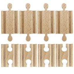 Conductor Carl Set of 8 Male-Male Female-Female Wooden Train Track Adapters - Railway Expansion Accessories Compatible with Major Toy Trains - Hobbies, Games, and Table Activities for Kids