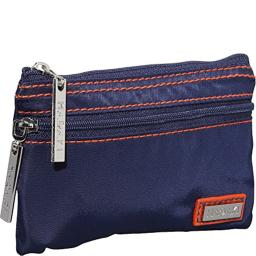 Hadaki Nylon Jewelry Pouch, Navy/Orange