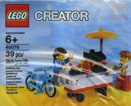 LEGO Exclusive Creator 40078 Hot Dog Stand Lego Hot dog cart, 40078