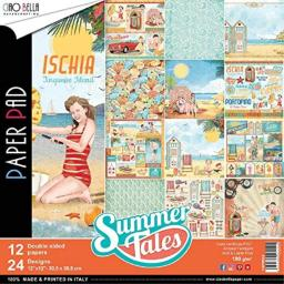"""Ciao Bella CBPM022 Summer Tales Double-Sided Paper Pack 12""""X12"""" 12/Pkg"""