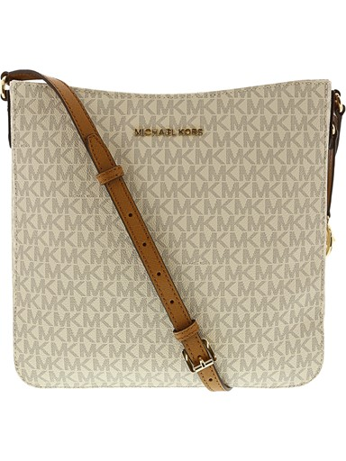 7031b7268ce6 Michael Kors Jet Set Travel Large Messenger Bag - Vanilla   Acorn