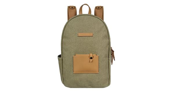 bb554c32e Sherpani Backpack Womens Zip Pocket Canvas Wool Leather Indie