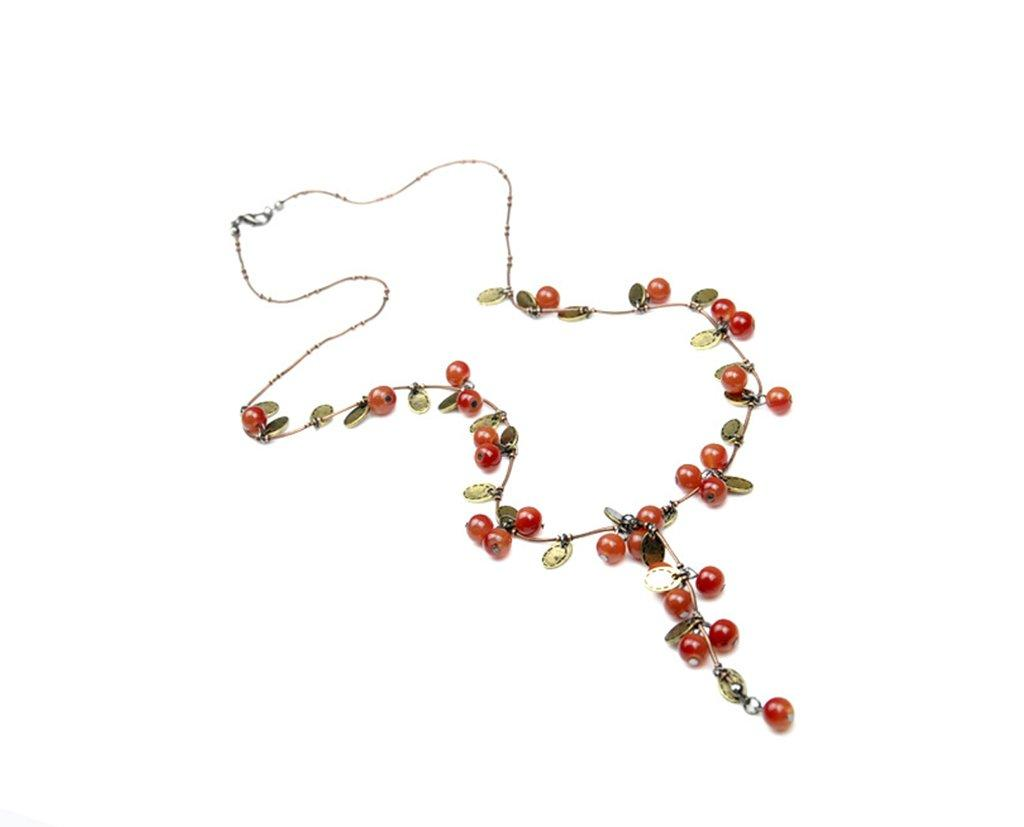Novadab Exotic Red Bead Necklace