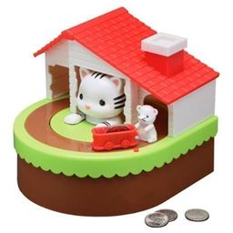 Leading Edge Novelty Cat & Mouse Animatronic Coin Bank