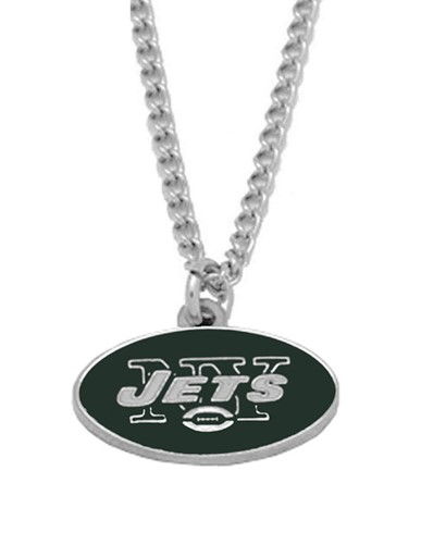 Sports Team NFL New York Jets Logo Necklace Charm Pendant
