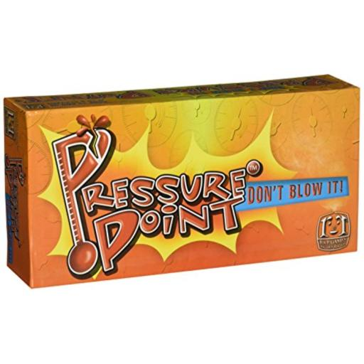 R & R Games Pressure Point For 3 or more players*Contents: 175 Category cards, Electronic Pressure Point timer w/batteries, scoring chips, 8 voting discs.*Playing time: 30-60 minutes