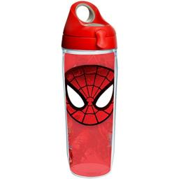 Tervis 1250460 Marvel - The Amazing Spider-Man Tumbler with Wrap and Red with Gray Lid 24oz Water Bottle, Clear
