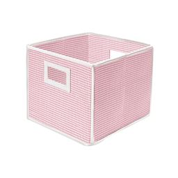 Badger Basket Co Folding Basket/Storage Cube - Pink Gingham