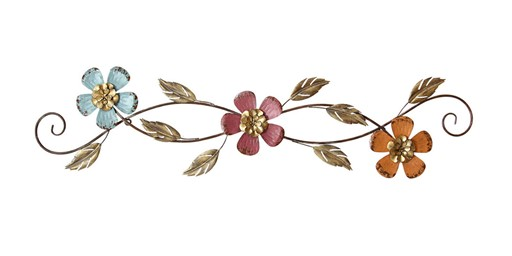 Stratton Home Decor Floral Scroll Wall Decor