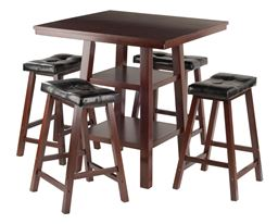 Winsome Orlando 5-Piece Dining Table Set with 4 Stools