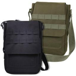 Padded Canvas Tech Bag w/MOLLE- Holds iPad, Android, and Similar Tablets