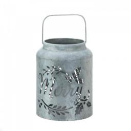 Christmas Collection 10018549 Merry Galvanized Led Candle Lantern
