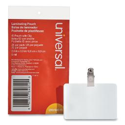 """Laminating Pouches 5 Mil 3.75"""" X 3.88"""" Matte Clear 25 Per Pack   1 Pack of: 25"""