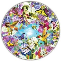 A Broader View ABW412 Round Table Puzzle - Hummingbirds, 500 Piece