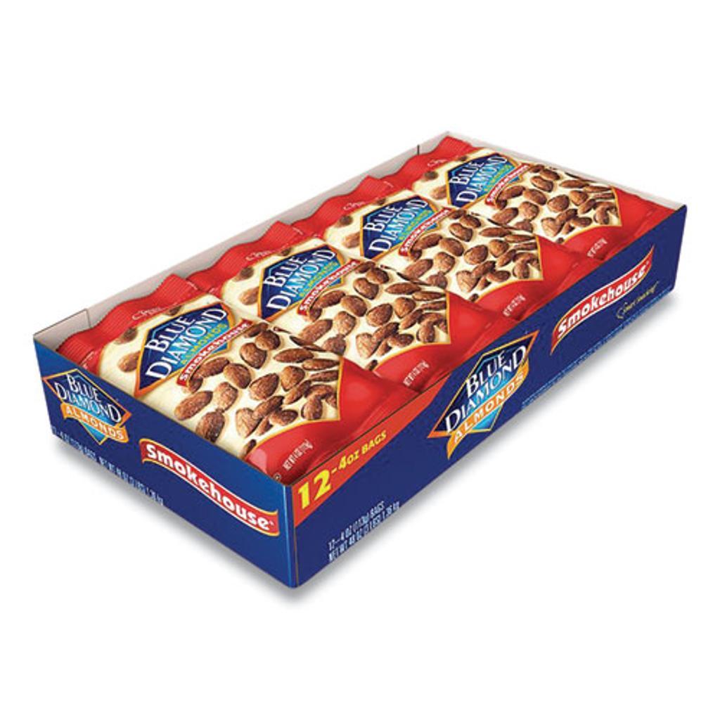 Smokehouse Almonds 4 Oz Bag 12 Bags/Box | 1 Box of: 12