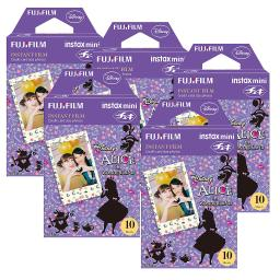 Fujifilm Instax Alice in Wonderland Film Pack Instant Print Mini Cameras 5 Pack