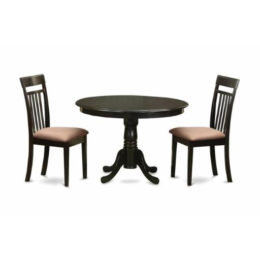 East West Furniture ANCA3-CAP-C 3 Piece Small Kitchen Table Set-Breakfast Nook Plus 2 Dinette Chairs