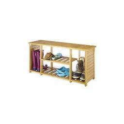 Whitmor 6277-4467-bb bamboo shoe bench