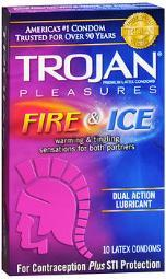 Trojan Pleasures Fire & Ice Premium Latex Condoms - 10 ct CH96012