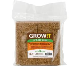 GROW!T Coco Caps GROW!T Coco Caps, 6'', pack of