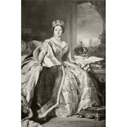 Posterazzi DPI1872421LARGE Queen Victoria 1819 to 1901 After A Painting By F. Winterhalter, Done In 1859 From The Book Buckingham Palace, Its Furnitur