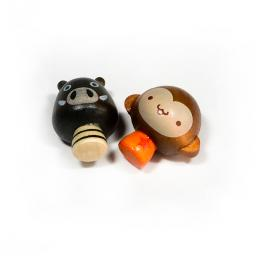 Mini Pig & Monkey - Refrigerator Magnets / Animal Magnets