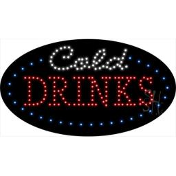 Sign Store L100-1929 Cold Drinks Animated LED Sign, 27 x 15 x 1 In.