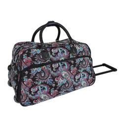 World Traveler 8112022-207 21 in. Paisley Carry-On Rolling Duffel Bag
