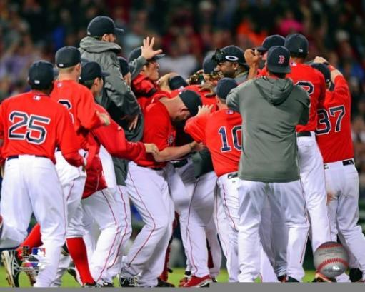 The Boston Red Sox Celebrate winning the 2013 American League East Division Photo Print