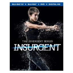 INSURGENT (BLU RAY/DVD COMBO/3D/UV/3 DISC) (3-D) 31398225447